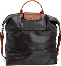 New Longchamp Le Pliage Expandable Travel Weekender Bag 1911089 BLACK AUTHENTIC