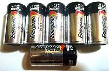 6 FRESH Energizer CR123A 3V Lithium Battery for Alarm Laser Flashlight USA 2027