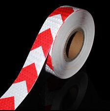 Bande réfléchissante de sécurité autocollante rouge et blanc