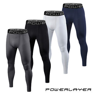 Compression Base Layer Tights PowerLayer Mens Boys Bottoms Thermal Skins