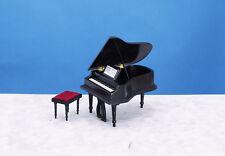 Baby Grand Piano with Stool - Black - CLA91406 & AZ05913