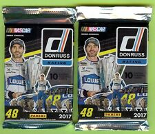 LOT OF (2) PACKS 2017 PANINI DONRUSS NASCAR RACING HOT PACK