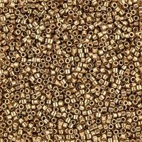 Miyuki Hex Cut Size 11//0 Seed  Beads Metallic Purple Gold Iris 12g Q14//1