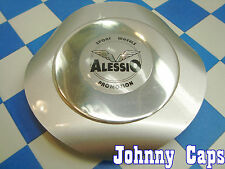 Alessio Wheels Silver Center Caps #ALESSIO Custom Wheel Silver Center Cap (1)