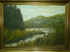 Fine Signed Painting Glen Orchy & the River Orchy Perthshire Scotland 44 x 66 cm