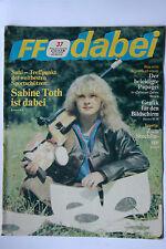 DDR Fernsehzeitschrift FF Dabei RARITÄT 37/1986 TOP !!