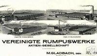 Vereinigte Rumpuswerke AG MönchenGladbach hist Aktie 1941 Waldniel Giesenkirchen
