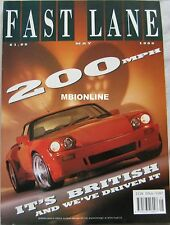 FAST LANE 05/1989 featuirng Jaguar Lister Le mans, VW Golf GTi, MG, Saab, Rover