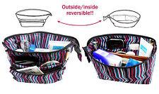Small Organizer Reversible Pouch Travel Insert Handbag Makeup Bag Purse Cosmetic