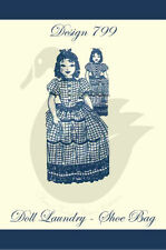 Riproduzione vintage doll BUCATO-Scarpa Borsa cucito PATTERN D799