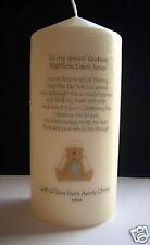 Personalised Godson Christening Baptism Poem Candle Gift Keepsake Present