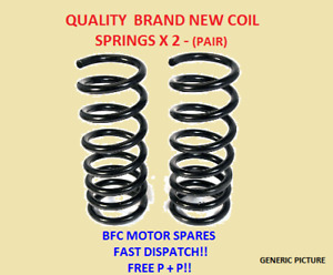 FORD FIESTA MK6 1.6TDCI FRONT 2 SUSPENSION COIL SPRINGS PAIR 02-09