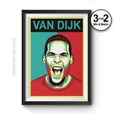 Virgil Van Dijk Wall Art Print - Liverpool LFC Anfield Football Fan Gift Poster