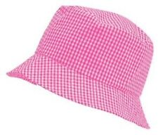 Unicol per bambini A QUADRETTI ROSA SCUOLA SACCA Cappello da sole 56cm Età 8-11