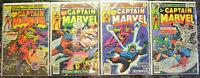 CAPTAIN MARVEL (4-Book) Comic LOT w #43, 57, 58, 61 (1976-1979 | Marvel) Bronze
