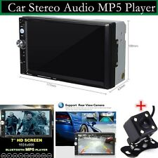 7'' 2-Din Bluetooth Car Stereo Audio MP5 Player with Rear View Camera FM/USB/Aux