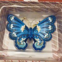 Hallmark Keepsake 2019 Brilliant Butterfly Graceful Premium Metal Blue Ornament