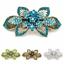 Flowers Metal wedding bridal Rhinestones Crystal hair claws clips Barrette clamp