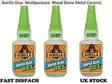 3 Gorilla Super Strong Glue Gel use for metal wood ceramics leather plastics 15g