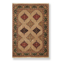 """6' x 8'10"""" Hand Knotted Superfine 100% Wool Traditional Oriental Area Rug Beige"""