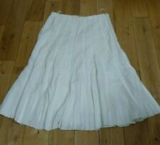 Maxi Skirt in White Linen fully lined with Cotton M & S size 16