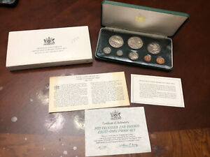 Trinidad and Tobago 8 Coin Set Franklin Mint 1973   Proof Box With COA