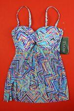 Profile by Gottex Tankini Swim Multi Color US 8 UK 10 D 36 E 40 NWT