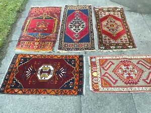 antico-swiss  5 Beautiful Antique YASTIK rugs 1`7x3`5and1`9x3`5and1`5x3`1and