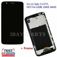 For LG Stylo 3 LS777 LCD Display Screen Replacement Touch Digitizer With Frame+