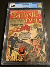 Fantastic Four #6 CGC 2.0 OW Stan Lee 1st Marvel Villain Team 2nd Doom Key SA