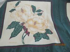 COTTON FABRIC-SPRINGS INDUSTRIES-CUT & SEW PANELS  (3) MAGNOLIA W/LEAVES