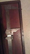 """Used LS Starrett 25"""" Vernier Caliper No. 122 in case (case in rough shape)"""