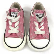 Converse One Star Shoes infant Girls Size 5 Pink sneakers low top shoes Canvas