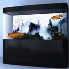 Fog Mountain View Aquarium Background Poster Fish Tank Backdrop Sticker