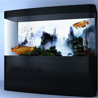 Fog Mountain View Aquarium Background Poster Fish Tank Backdrop Sticker