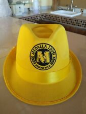 Puerto Rico Vintage Cerveza Medalla Light Beer Yellow Pass Fedora Hat Rare!!!