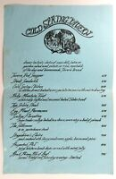 1970's Original Vintage Menu COLD SPRING TAVERN Restaurant Santa Barbara CA