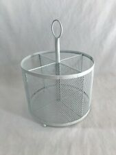 Desktop Supply Holder Desk Organizer Wire Mesh Storage Basket White