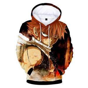 FAIRY TAIL Cosplay Coat unisex Hoodeds Long Sleeve Sweatshirt Tops shso2