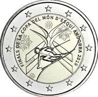 Andorra 2 Euro 2019 Finale der Alpine Ski-WM Gedenkmünze in CoinCard