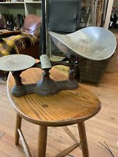 ANTIQUE CAST IRON BALANCE SCALE  NICE CONDITION HENERY TROEMNER 1877 Pat.