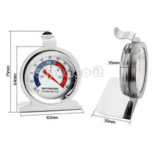 NEW Temperature Refrigerator Freezer Dial Type Thermometer Stainless Steel