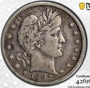 1892 o Barber Quarter 25c. PCGS VF25 CAC. Super Choice!