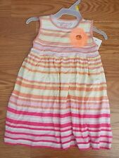 NWT Girls Design History Orange Yellow Pink Sun Dress Lightweight Size 4