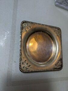 Small tray EPNS nice patina needs polish ideal for pillar candle ref38