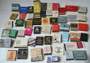LOT OF VINTAGE 1950s TO 1970s MATCHBOOKS- LONDON/ USA NIGHTCLUBS RESORTS BARS