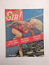 Vintage VTG Sir! Magazine April 1951 Lynn Roebuck Nudist Don Meade Risque Nudie