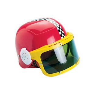 Child Motorcycle Helmet Visor Red Costume Cosplay Kids Racecar Driver Racing