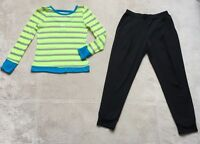 Zella Girls Outfit 3/4 Sleeve Top, Loose Fitting Jogger Pants, Size 8/10, Black