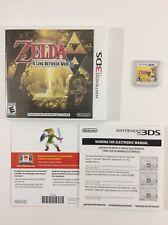Zelda Link Between Worlds Nintendo 3DS Auth Tested Complete CIB